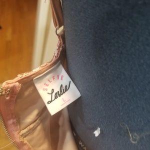 Selfie Leslie Dresses - BLUSH PINK LACY SIDE SLIT PROM DRESS